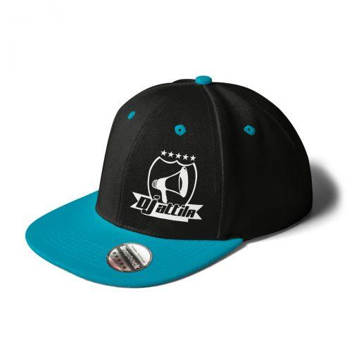 Cap DJ Attila Logo schwarz türkis