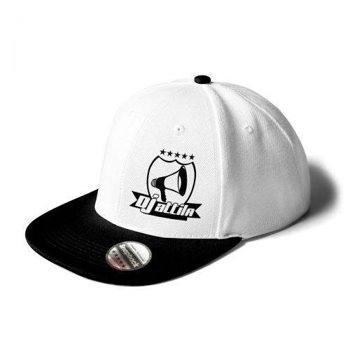 Cap DJ Attila Logo weiß-schwarz
