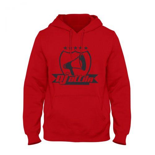 Hoodie DJ Attila Logo rot