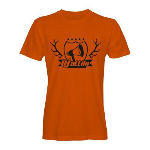 DJ attila t-shirt jägermeister geweih orange-schwarz