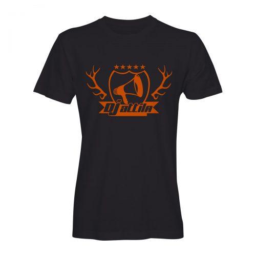 DJ attila t-shirt jägermeister geweih schwarz-orange