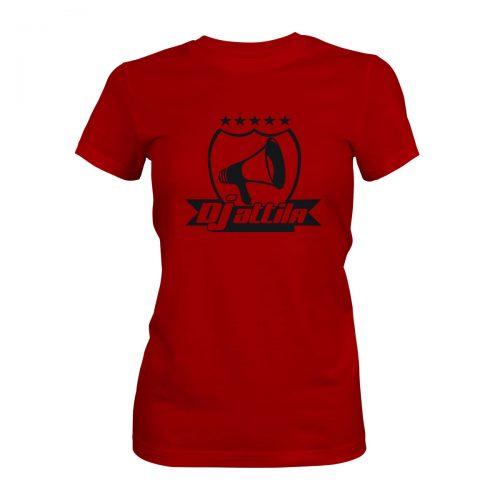 DJ Attila T-Shirt Damen rot