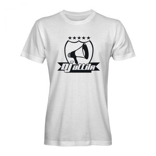 DJ Attila T-Shirt logo weiß