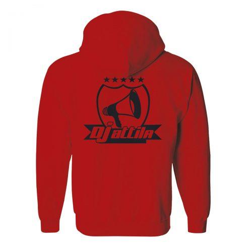 Zip-Hoodie DJ Attila Logo rot