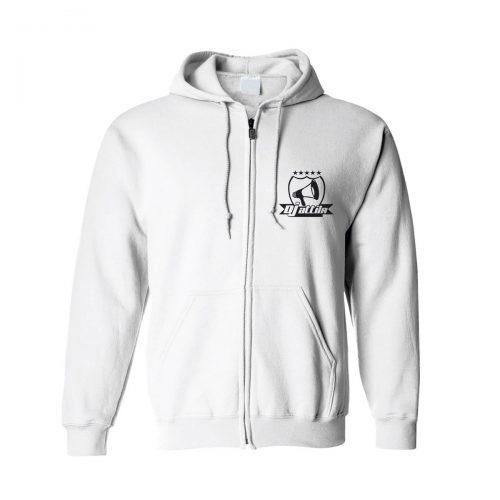 Zip-Hoodie DJ Attila Logo weiß