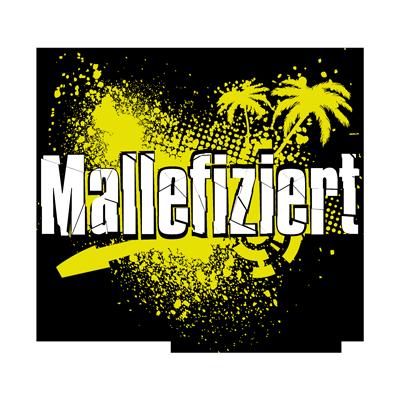 Mallefiziert Logo gelb-weiss