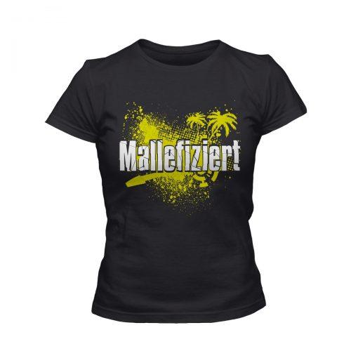 Mallefiziert T-Shirt Damen schwarz