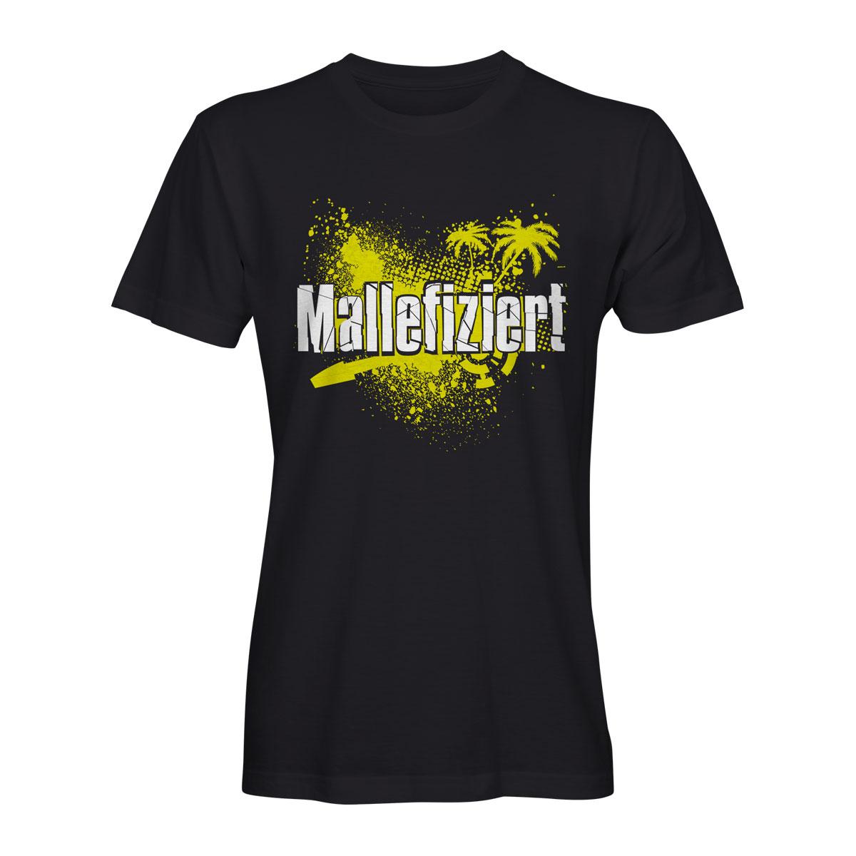 Mallefiziert T-Shirt schwarz