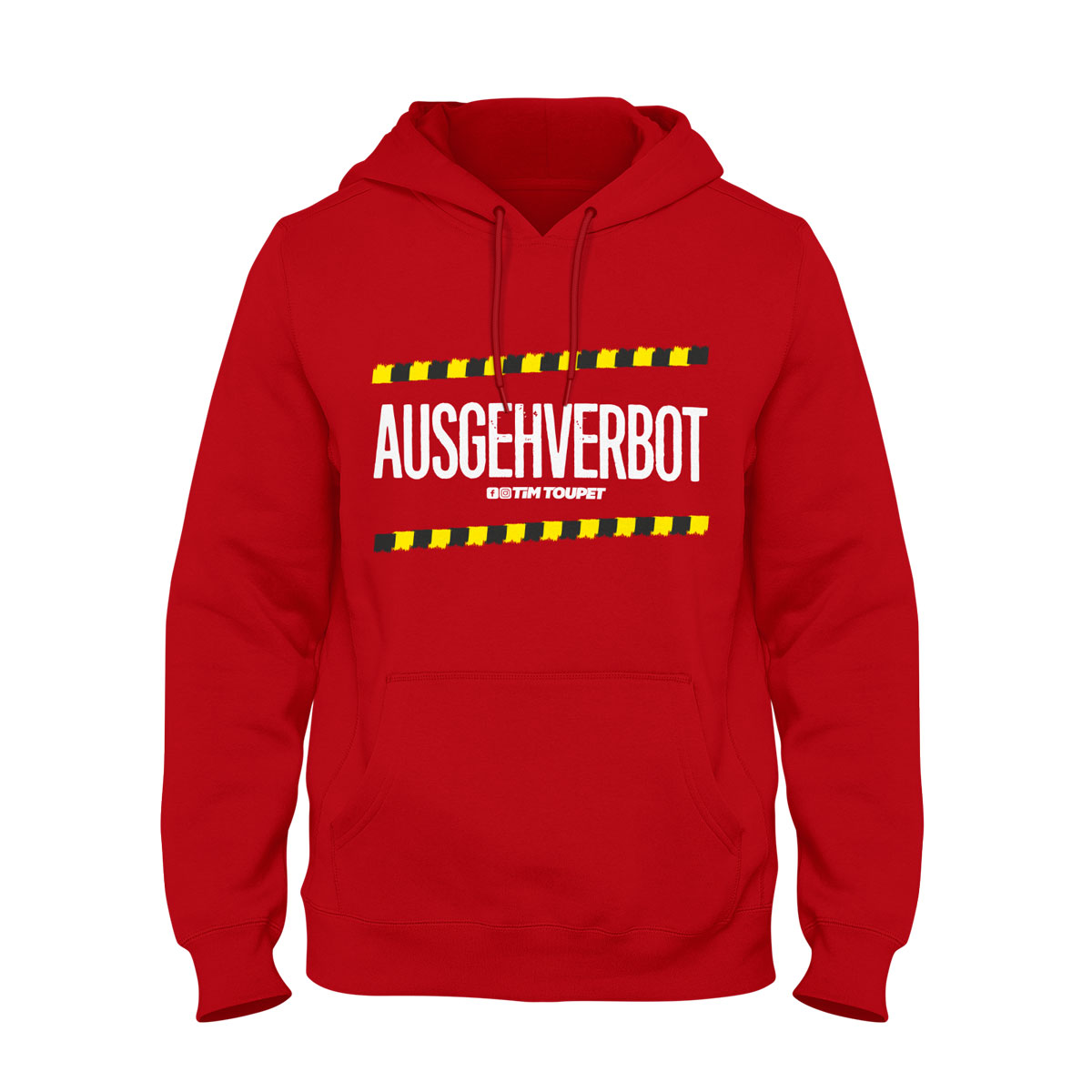 hoodie ausgehverbot rot