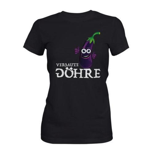 T-Shirt Damen DJ Attila Aubergine FC schwarz