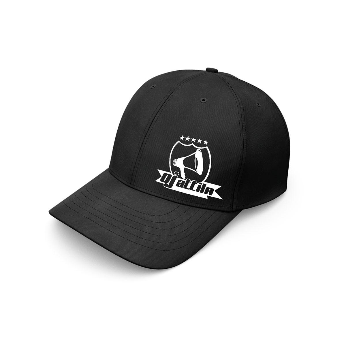 baseball cap dj attila logo schwarz
