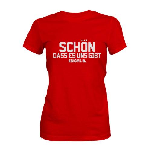 T-Shirt Damen Engel B Schön dass es uns gibt rot