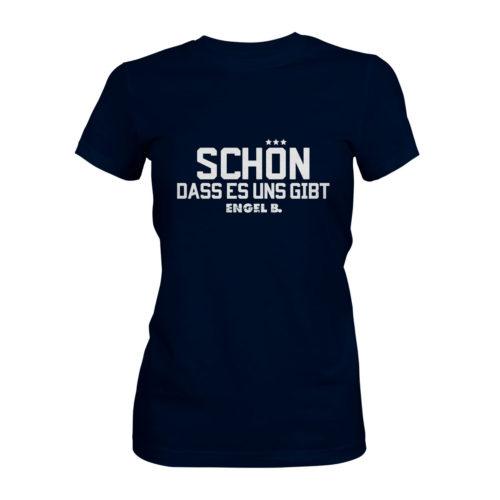 T-Shirt Damen Engel B Schön dass es uns gibt navy