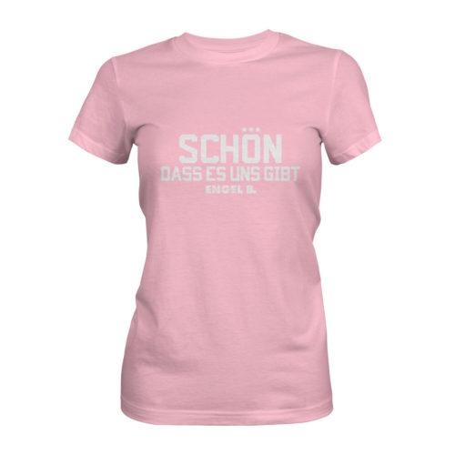 T-Shirt Damen Engel B Schön dass es uns gibt rosa