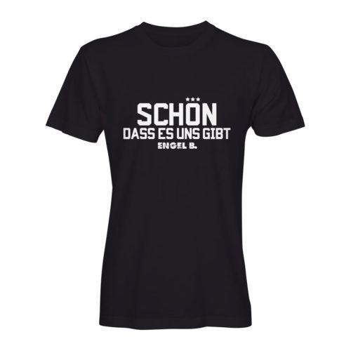 T-Shirt Engel B Schön dass es uns gibt schwarz